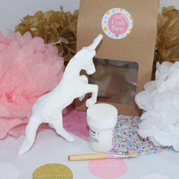 mini unicorn decoupage kits little craft party pinterest