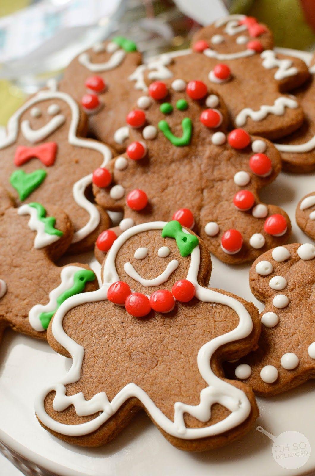 Gingerbread Men Cookie Tutorial Christmas Recipes Pinterest