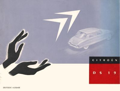 German Citroën DS launch brochure page 1