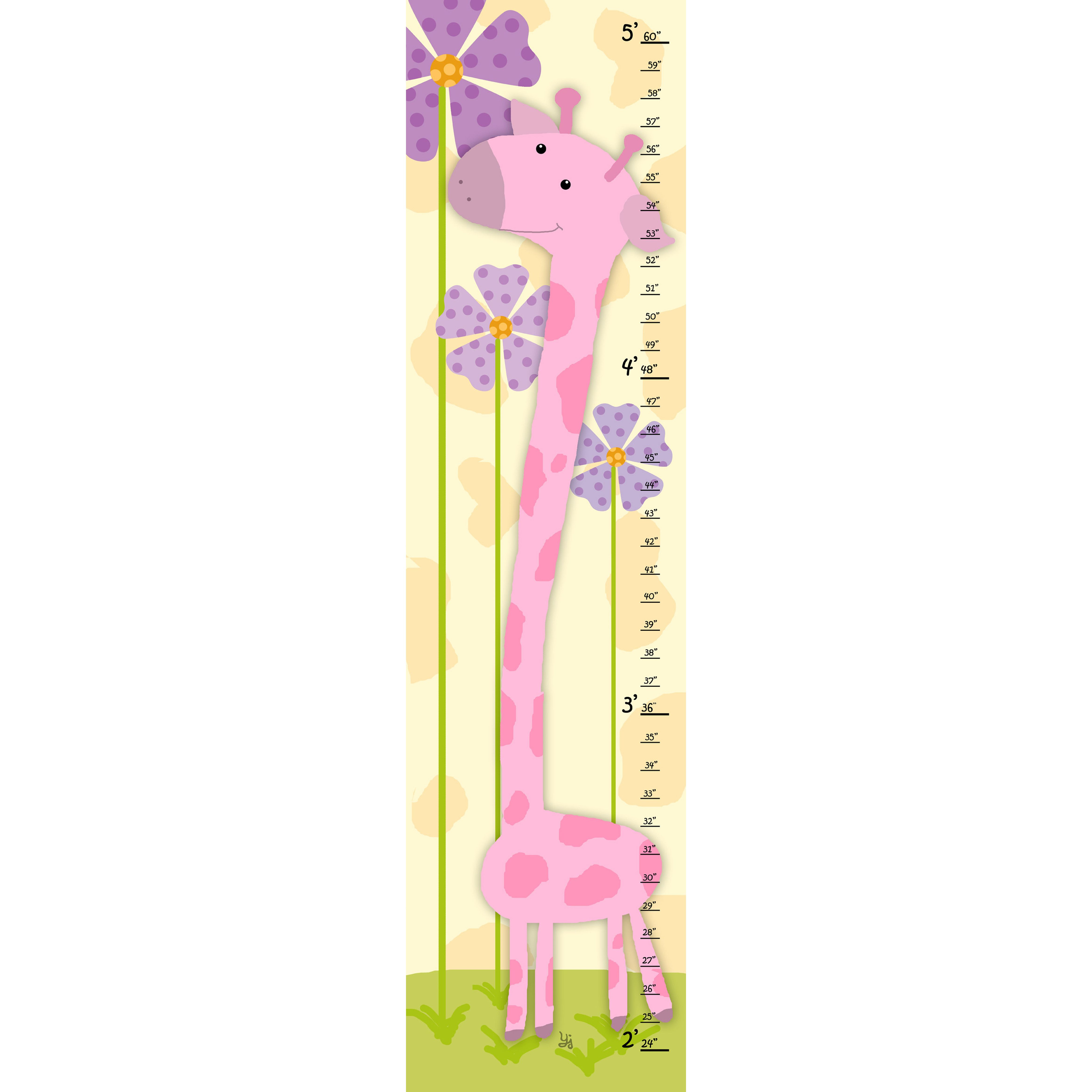 Features kids growth chart made in the usa product type loving this pink giraffe growth chart on nvjuhfo Choice Image