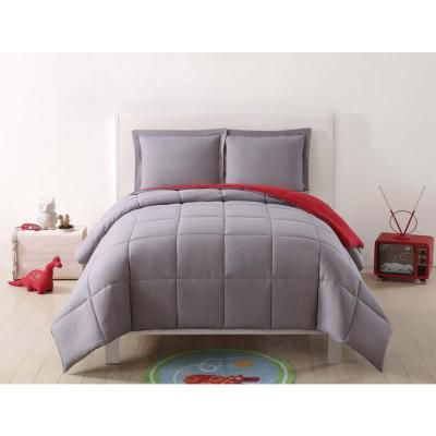 White Laura Hart Kids Pleated Solid White XL Comforter Set Twin X-Large