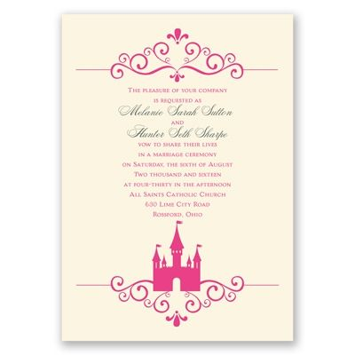 Invite guests to your happily ever after in fairytale style with