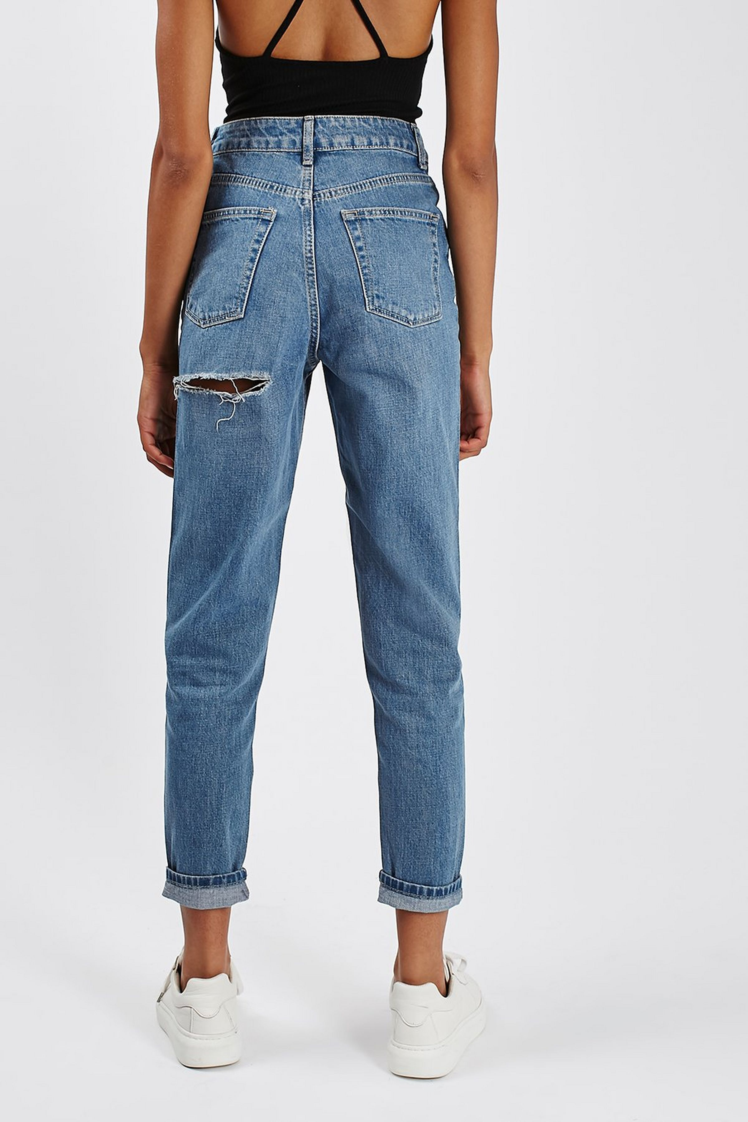 MOTO Cheeky Rip Mom Jeans in 2019 | Mom jeans | Ripped mom ...