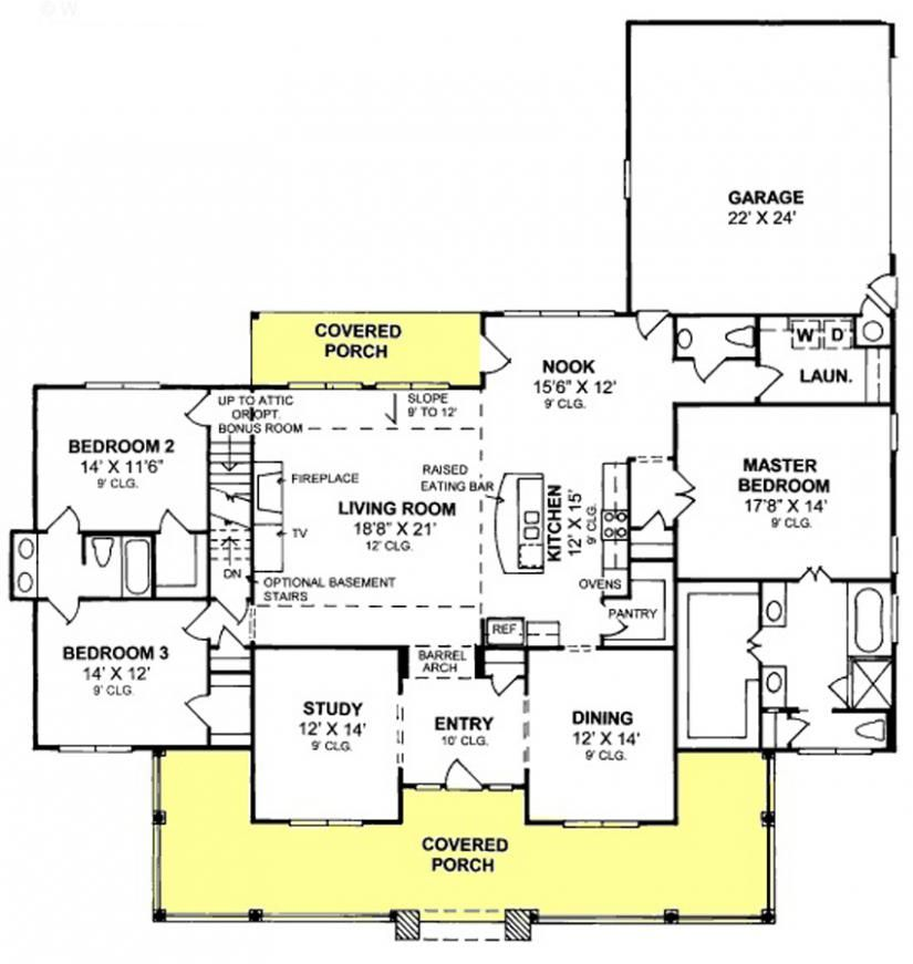 655904 3 Bedroom 2 5 Bath Country Farmhouse With Split Floor Plan And Office House Plan Open Concept House Plans Farmhouse Floor Plans Monster House Plans,Home Design Software Free