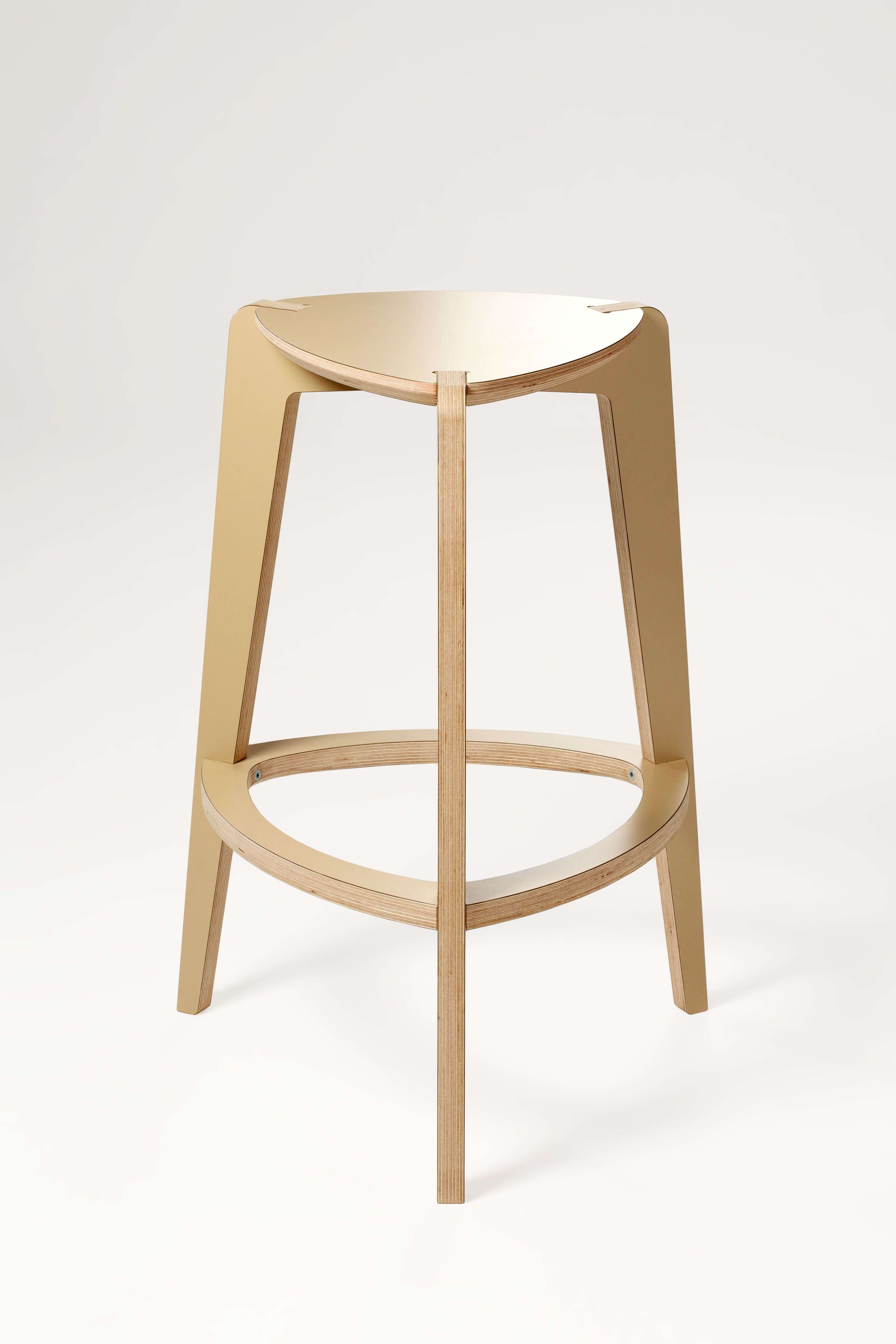 Bar Stool 3 Legs The Counter Height Is Made Of Moisture Resistant