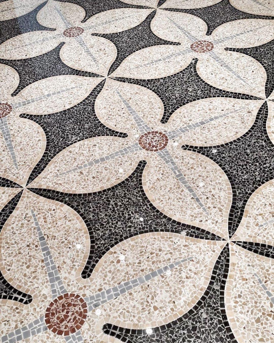 Flower Design Created With Terrazzo Terrazzo Terrazzo Design
