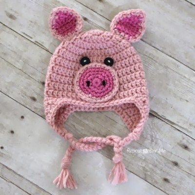 Crochet Pig Hat Pattern Diy Pinterest Crochet Pig Project