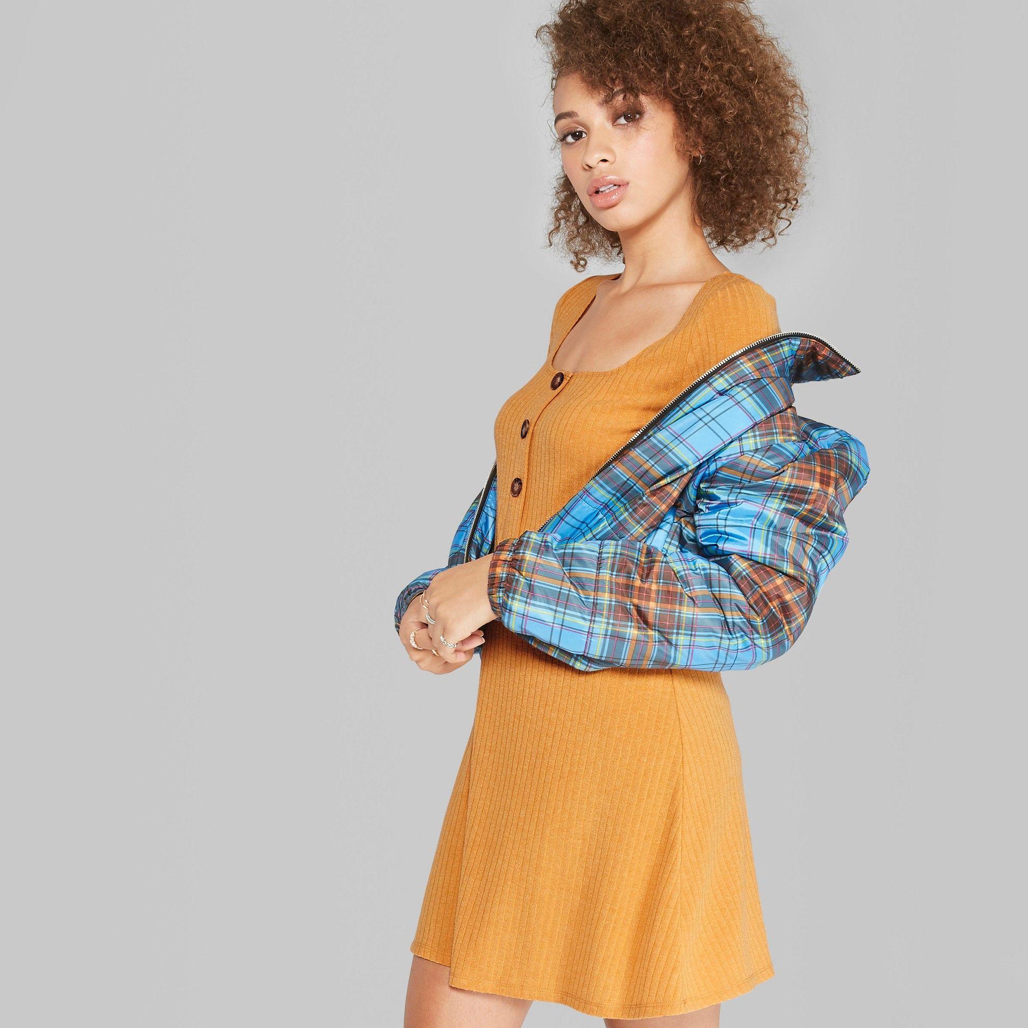 8cfac45d Women's Long Sleeve Button Front Knit Dress - Wild Fable Navy (Blue ...