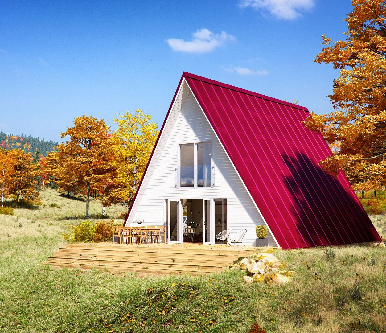 Affordable Housing With A Frame Kit Homes Bungalovlar Cerceve