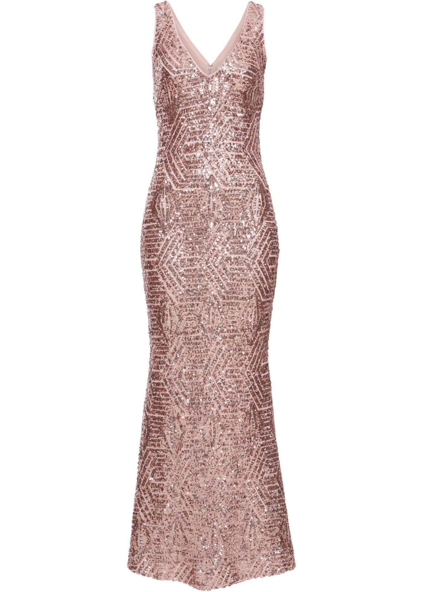 Pailletten-Maxikleid in 20  Pailletten kleid, Abendkleid, Große