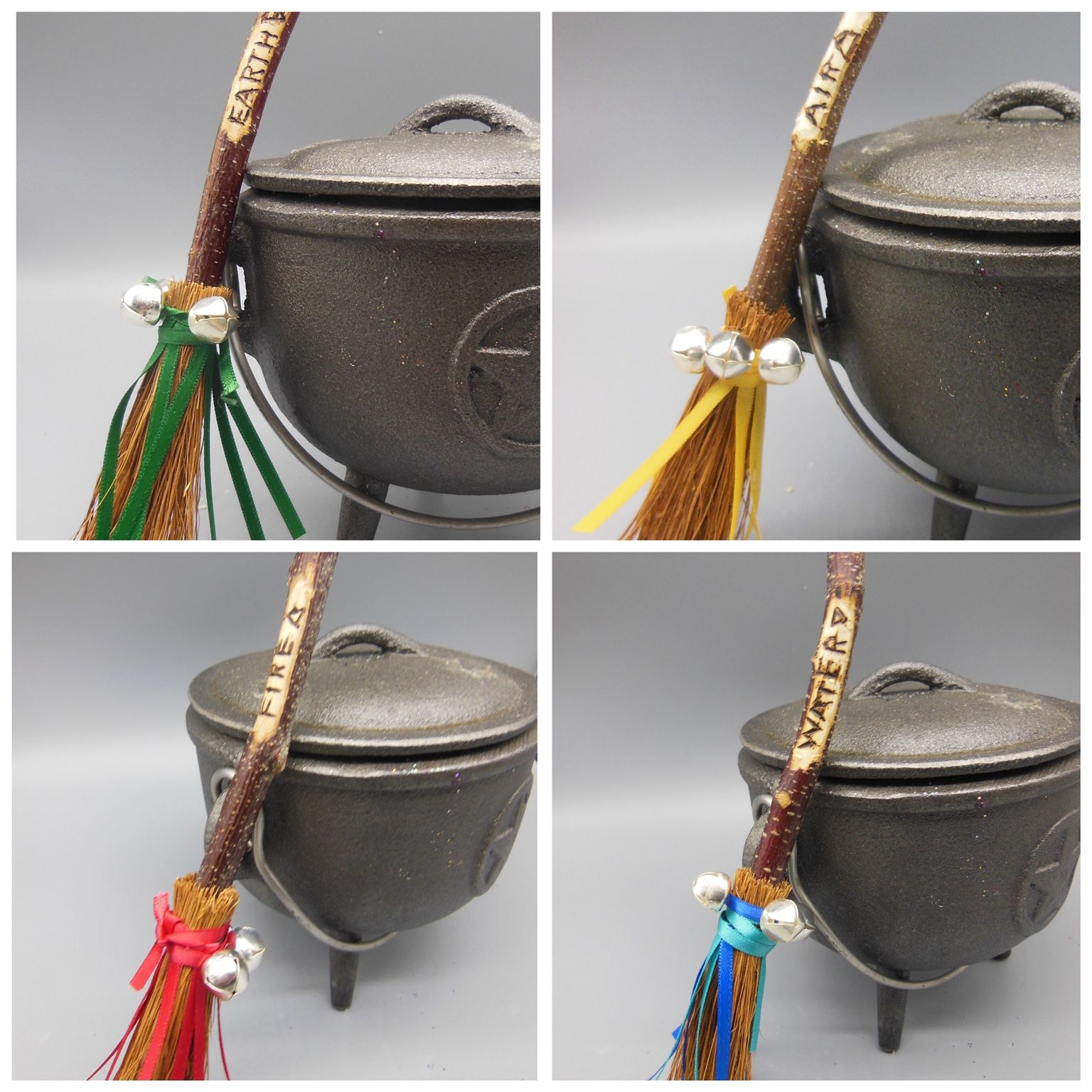 Element Besom Broomstick Set Want all four of our elements broomsticks Buy this set to save 4 This pack includes one broomstick for each element with pyrographed stems co...
