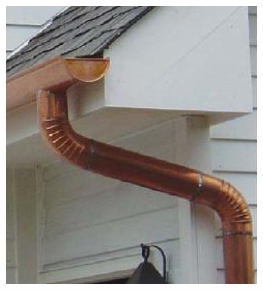 Rain Gutters And Downspouts Half Round Copper Gutters Gutters How To Install Gutters Downspout