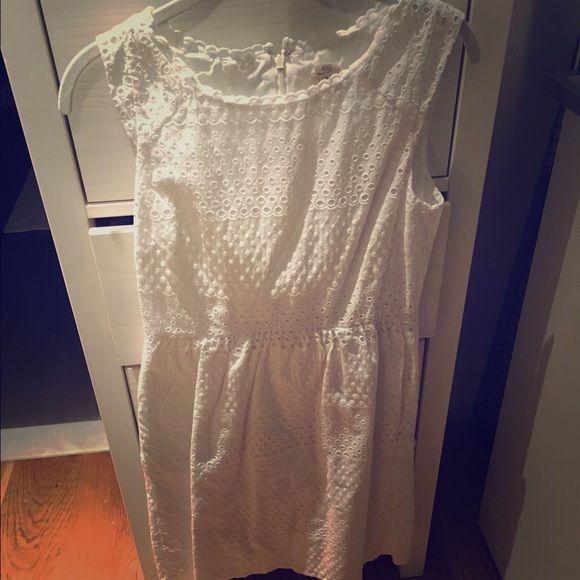 J.Crew Aline Eyelet Sundress J.Crew White, Aline, Eyelet, Tank Dress. Size 4 J. Crew Dresses