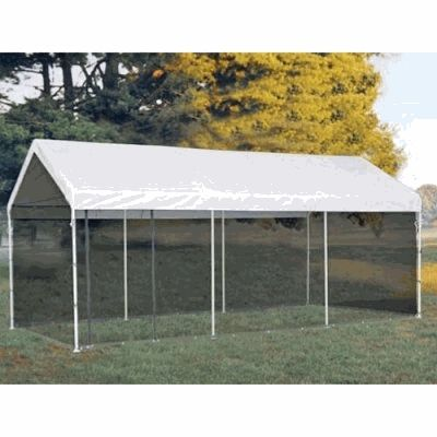 Carport Canopy With Screen Kit 10x20