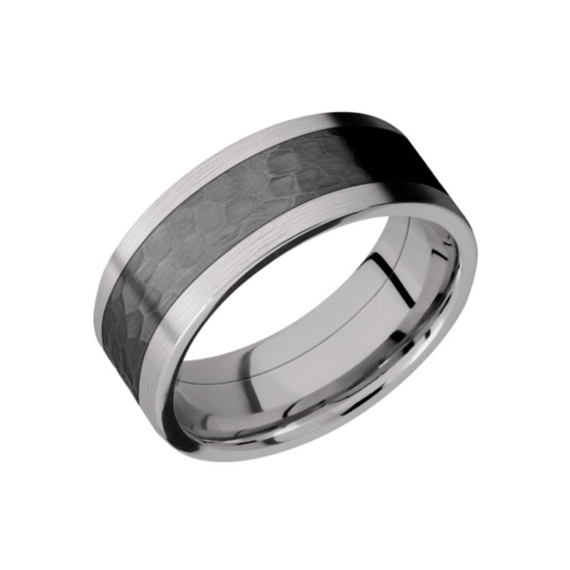 Titanium With Black Zirconium Hammered Inlay Wedding Ring Unique Titanium Wedding Rings Titanium Wedding Rings Cool Wedding Rings Black Zirconium Wedding Ring