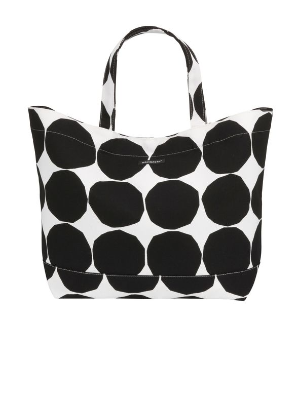 Marimekko blue Puketti gift box tote bag from Finland sturdy!