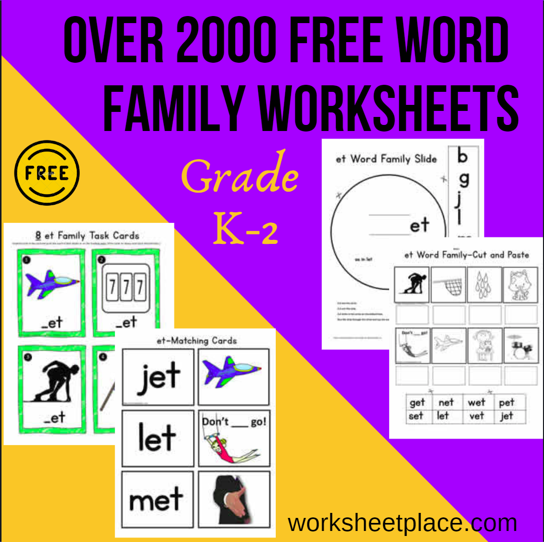 Are You Looking For Teaching Activities For Word Families