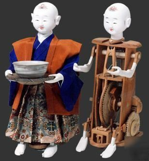"Japanese antique model tea-serving robot""karakuri doll"" 