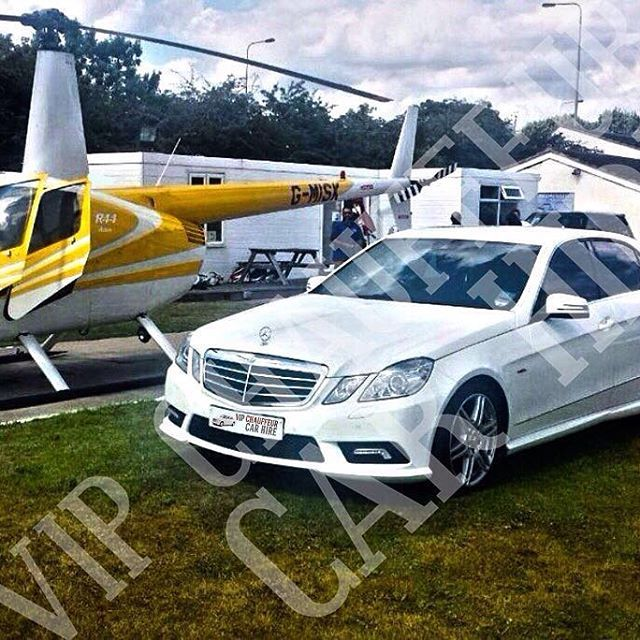 the Mercedes outdoes the helicopter in this photo, wouldn't you agree? Mercedes E-Class White #mercedes #mercedeseclass #carhire #car #hire #chauffeurdriven #chauffeur #driven #driver #cars #parties #proms #weddings #videos #musicvideos #hireacar #hirecar #birthdays #dinner #nightout #VIP #VIPChauffeurCarHire #VIPcarhire #VIPchauffeurs #vip