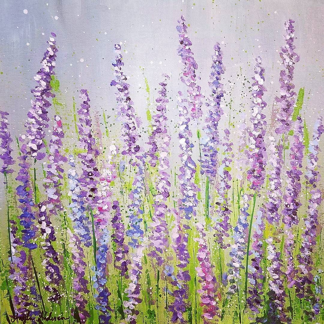 Lavender Field Acrylic Painting Tutorial On Youtube By