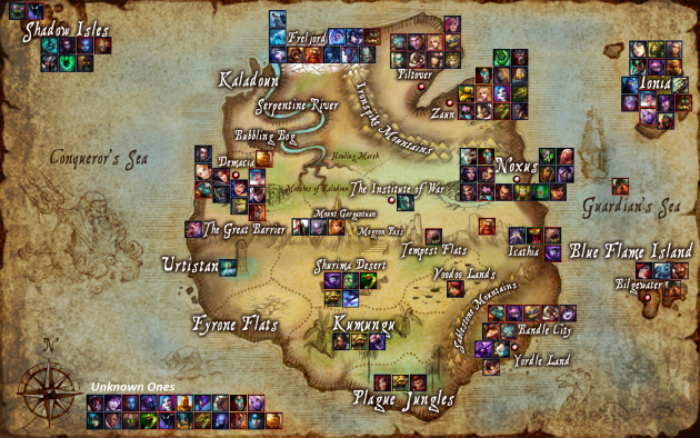 League Of Legends World Map