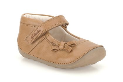 Girls Shoes - Little Harper in Tan Leather from Clarks shoes