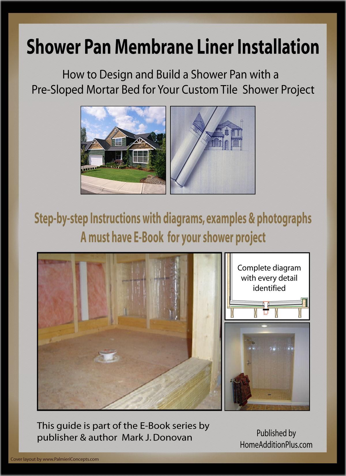 Shower Pan Membrane Liner Installation Ebook With Images