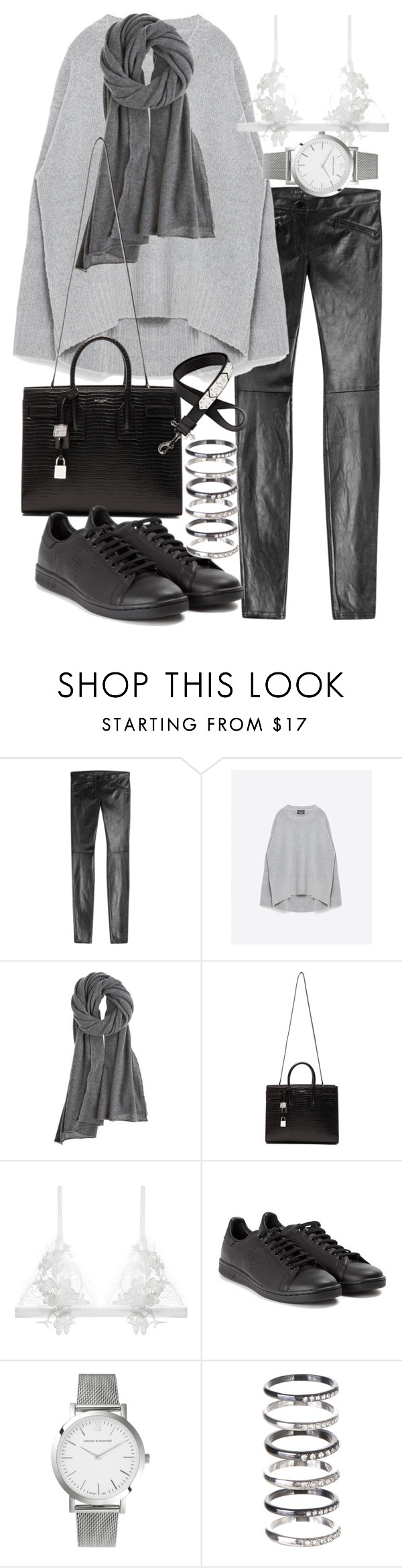 """""""Untitled #19466"""" by florencia95 ❤ liked on Polyvore featuring Barbara Bui, Zara, Calypso St. Barth, Yves Saint Laurent, For Love & Lemons, adidas, Larsson & Jennings, M.N.G and Givenchy"""