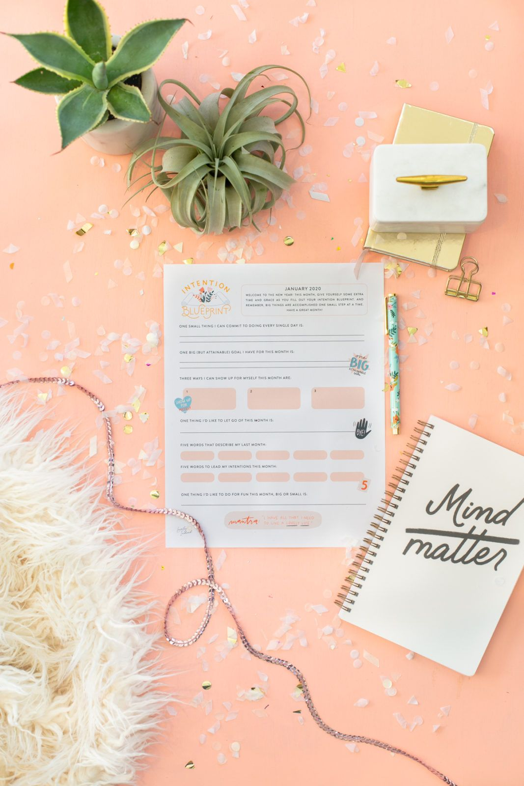 Set Goals with this Free January Intention Blueprint