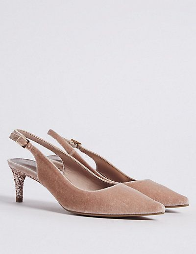 Kitten Heel Slingback Court Shoes Heels Kitten Heels Shoes