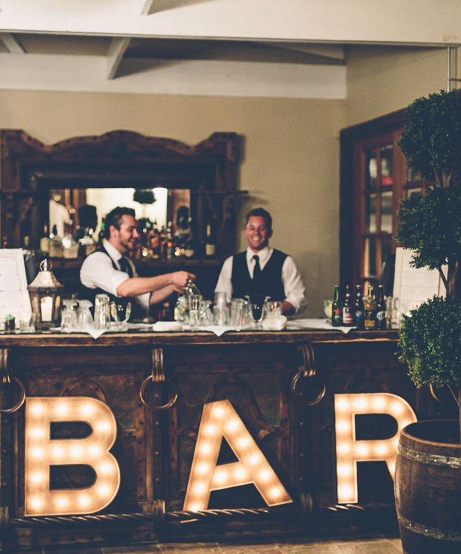 Bank reno wedding bar bar set up malibu wedding