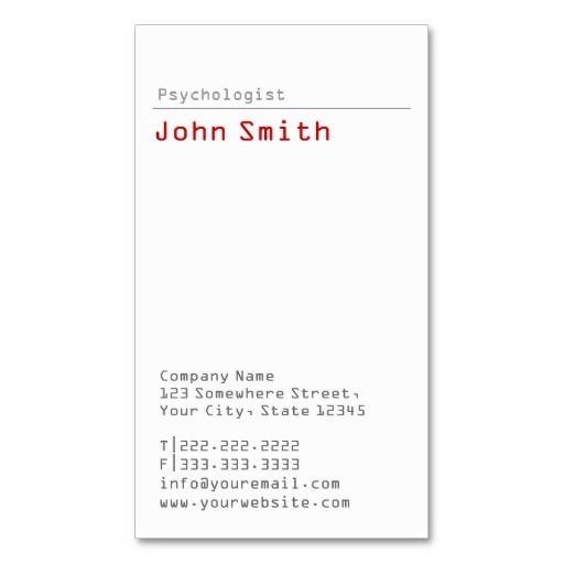 Simple plain psychologist business card business cards and business simple plain psychologist business card reheart Gallery