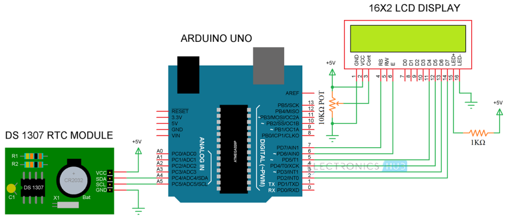 Arduino Real Time Clock (RTC) Tutorial using DS1307 | Электротехника