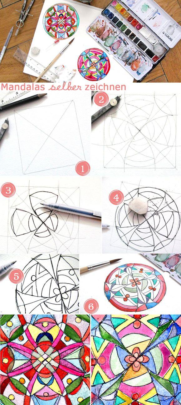 Mandalas zeichnen - Anleitung