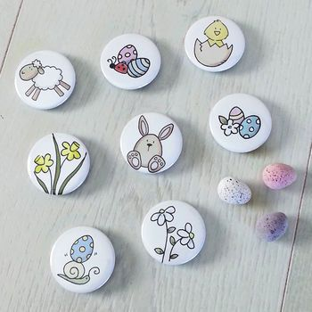 Set Of Eight Easter Badges
