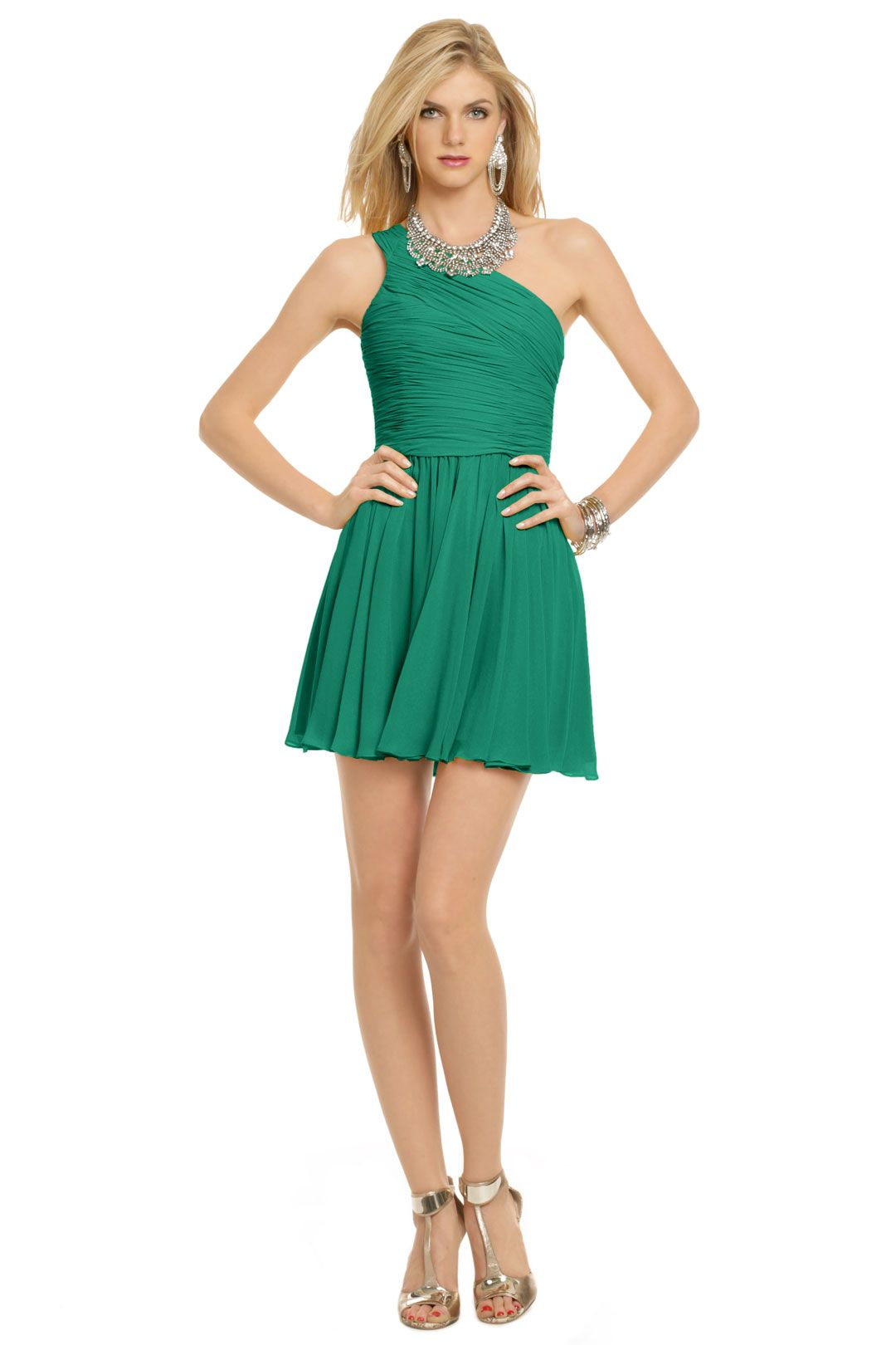 Green Tropics Dress | Halston heritage, Homecoming and Emeralds