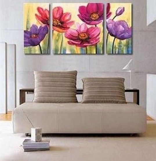Flower Painting, Canvas Wall Art, Abstract Art, Canvas Painting, Large Oil  Painting