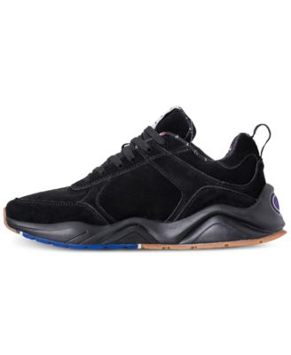 5fa74a912 Champion Men s 93Eighteen Suede Chenille Athletic Training Sneakers from  Finish Line - Black 10.5