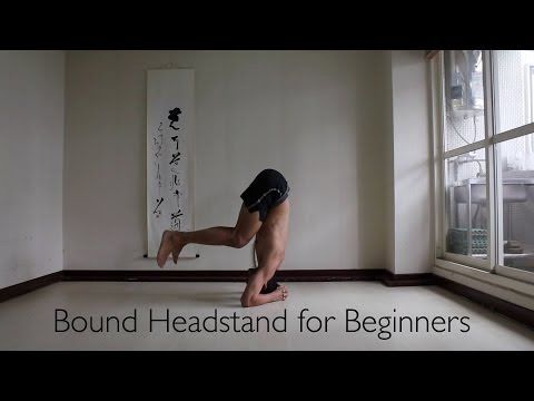 introduction to headstand sirsasana or bound headstand