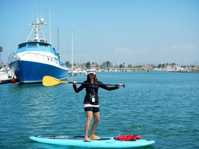 Paddle Board In The Oxnard Channel Islands Harbor In California