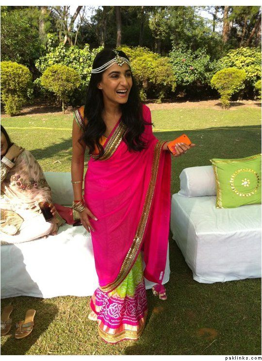 Love her sari!