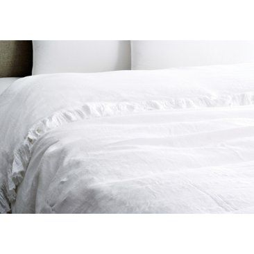 Check out this item at One Kings Lane! Tat Linen Duvet Cover, White