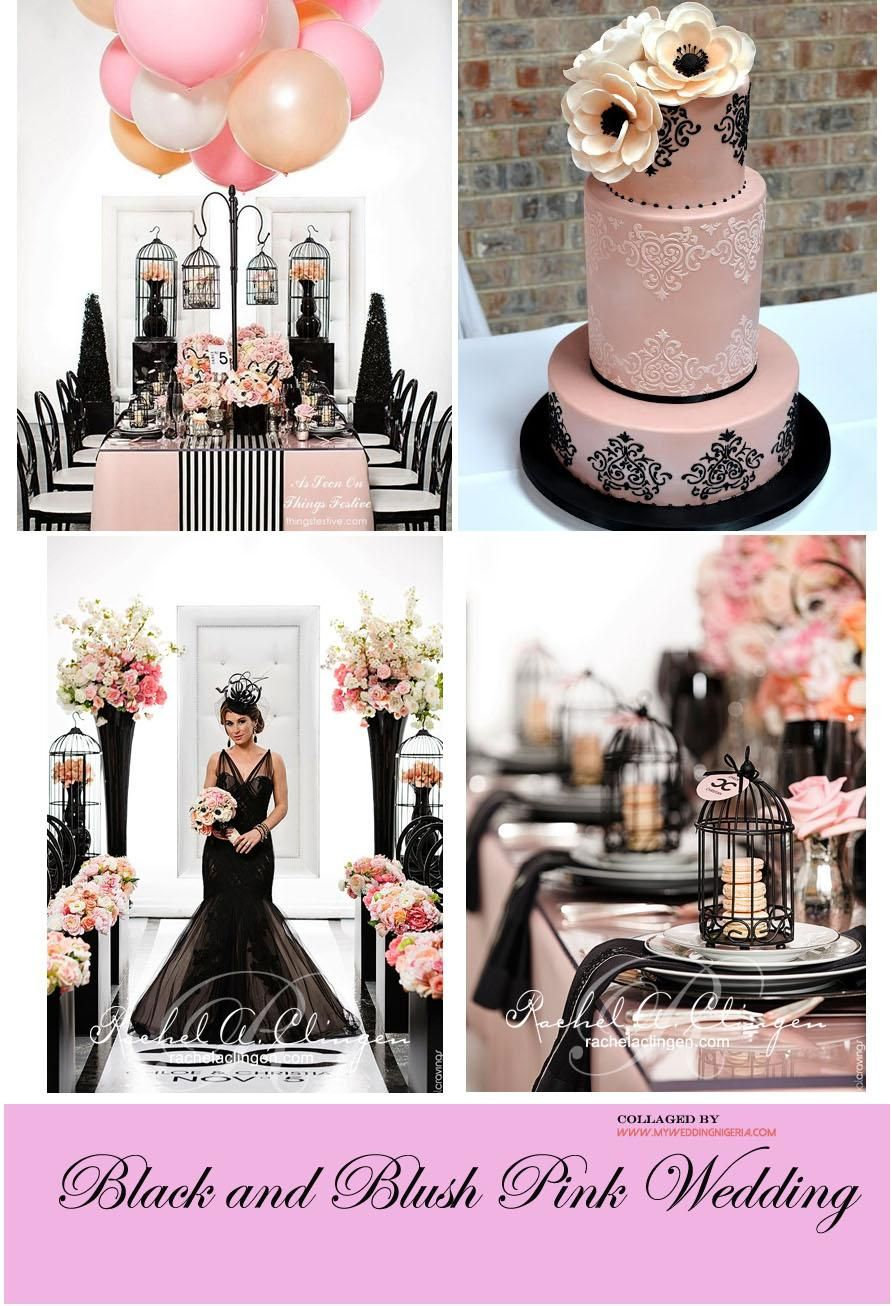 Black and pink wedding color palette in 2020 pink