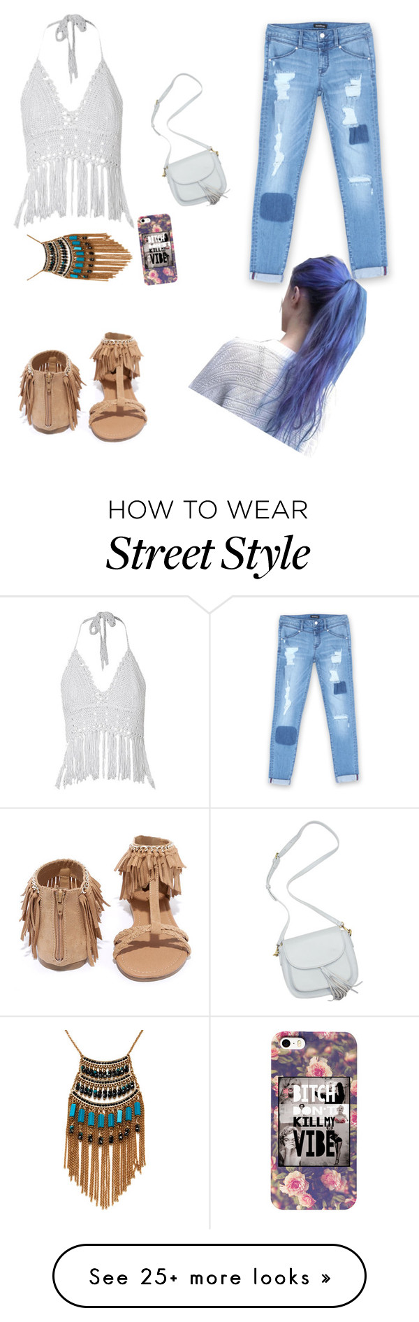 """Cochella street Style"" by sassi-mueller on Polyvore featuring Bebe, Qupid and Leslie Danzis"