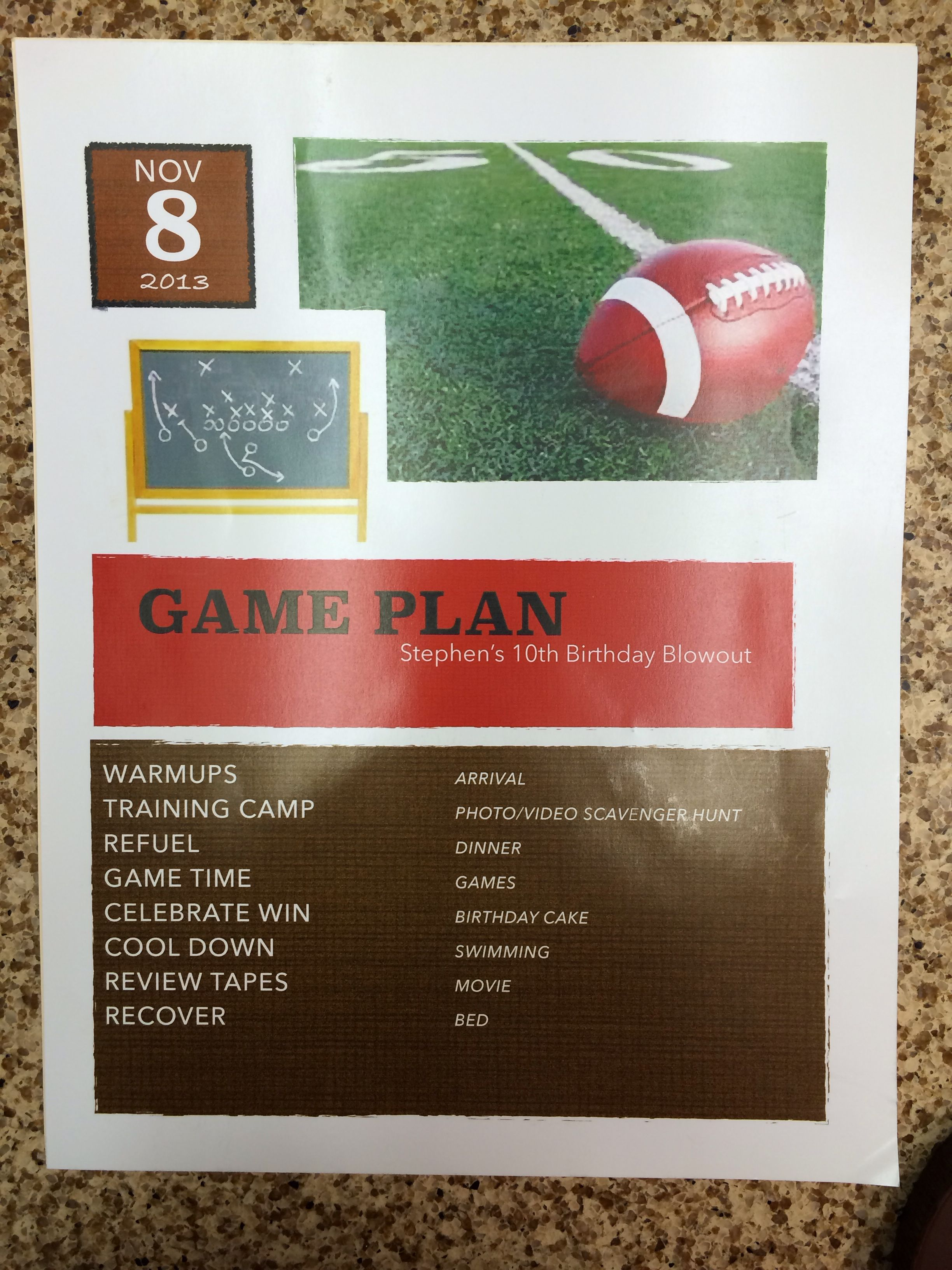 Game Plan For 10 Year Old Boy Football Themed Party Football Theme Party 10 Year Old Boy How To Plan