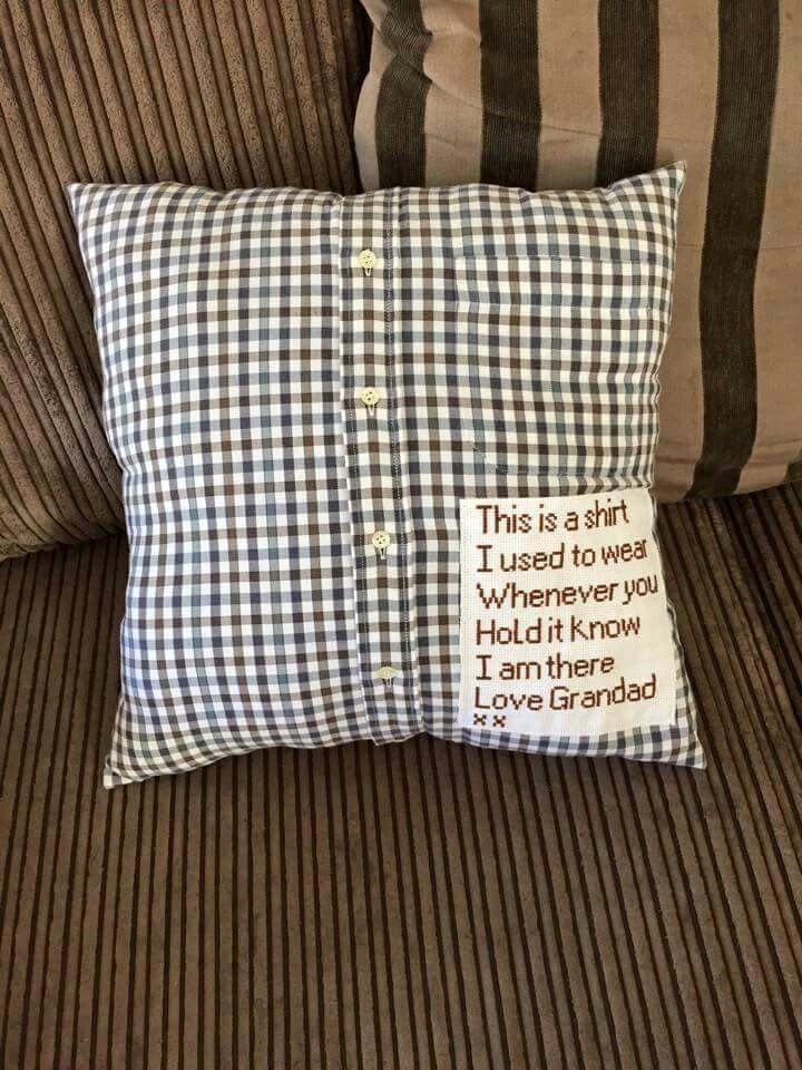 Memory Pillows Made From Old Shirts Mega Diy Board