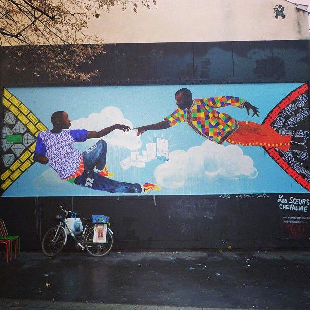 La création d'Adam... - @filifab- #lemur #streetart