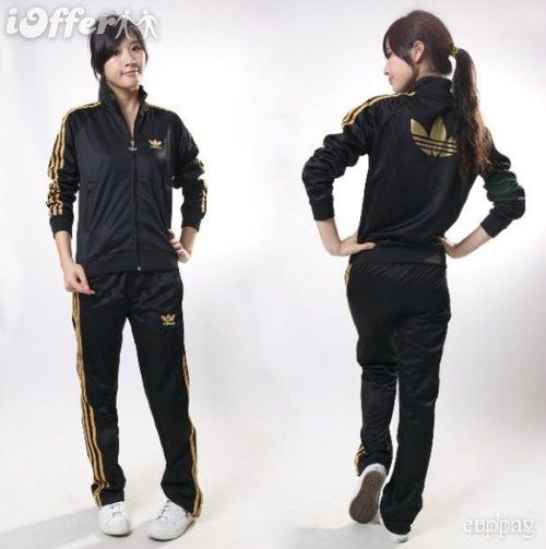 buy popular 4e8b6 22737 Adidas Originals Firebird Tracksuit in Black Gold
