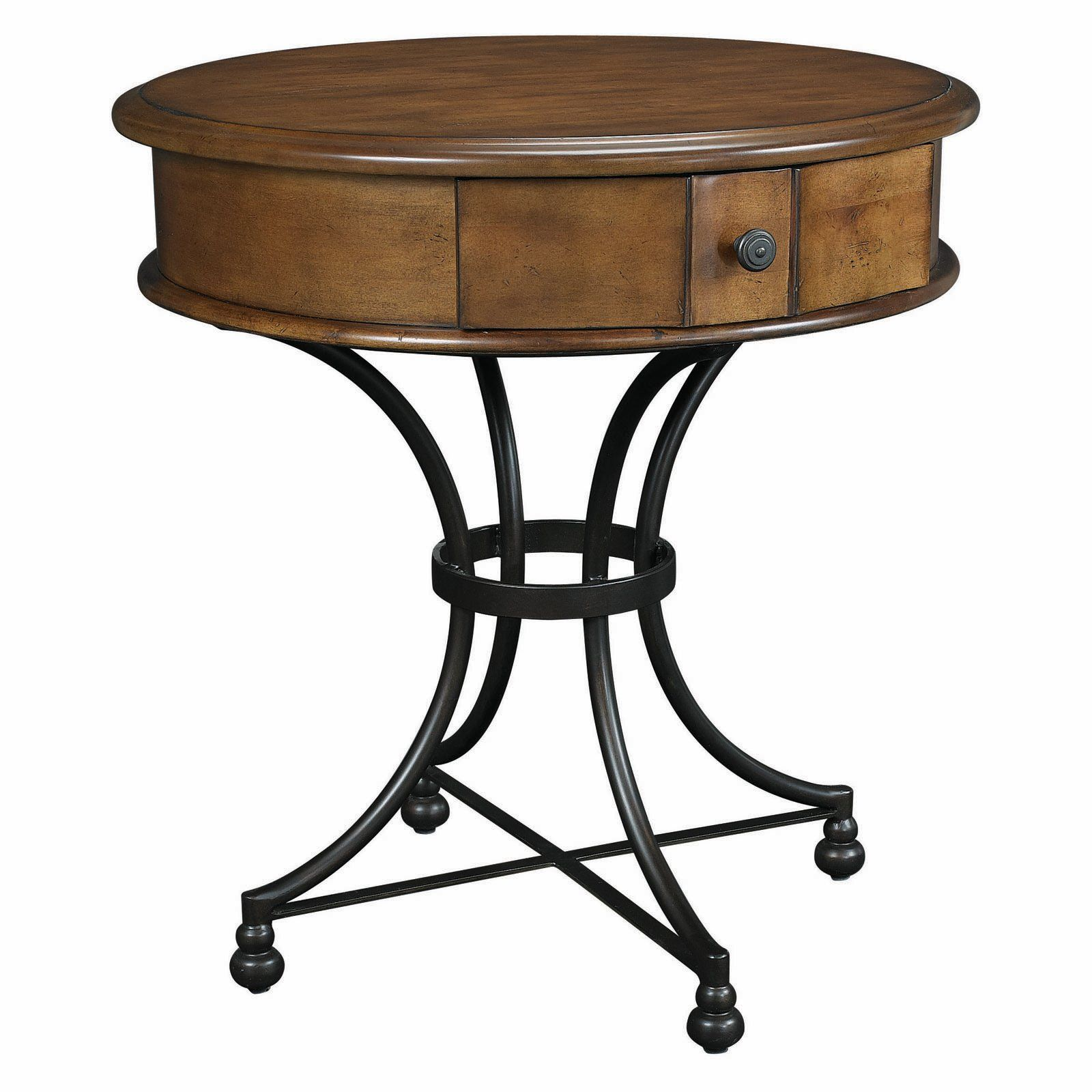 Hammary Siena Round Storage End Table 620 This Is The End Table