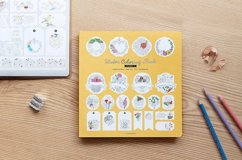 Sticker Coloring Book v2 | Crafts | Pinterest | Colour book and ...